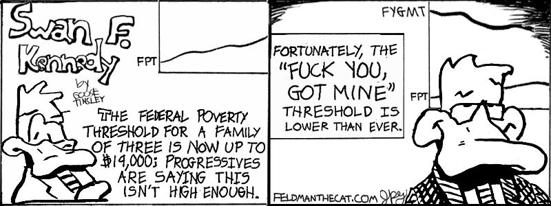 Swan F. Kennedy #1: FYGM (Mallard Fillmore Parody)